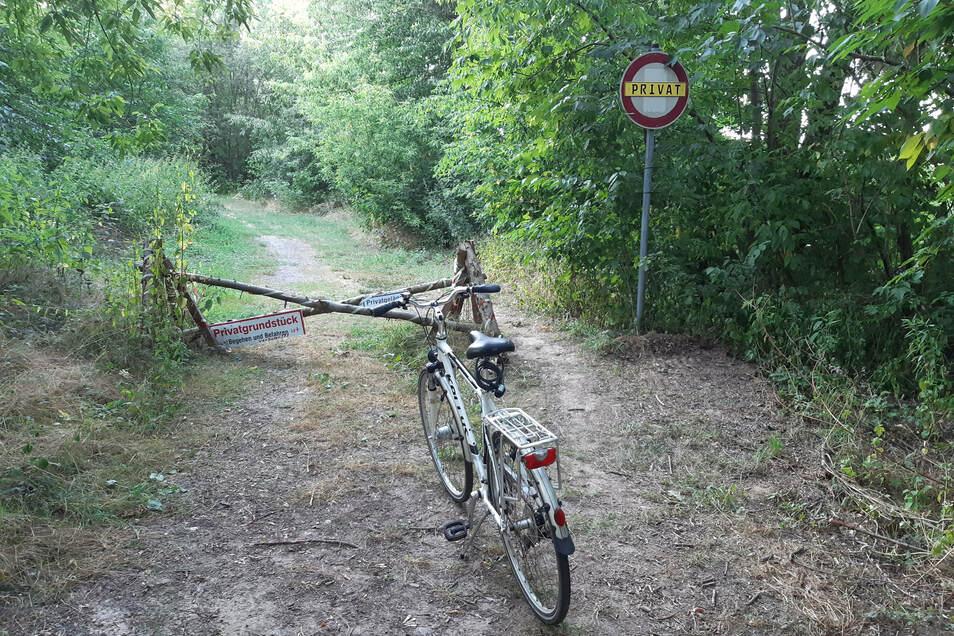 Für den Streckenabschnitt des Jahnatal-Radweges am Stausee Baderitz gibt es vorerst keine Lösung.