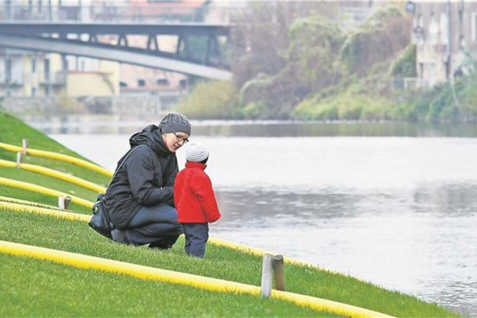 Der neue Uferpark ist auch für das Stadtklima wichtig. Denn der Verlauf der Neiße ist eine Schneise für den Görlitzer Frischluftaustausch. Foto: Nikolai Schmidt