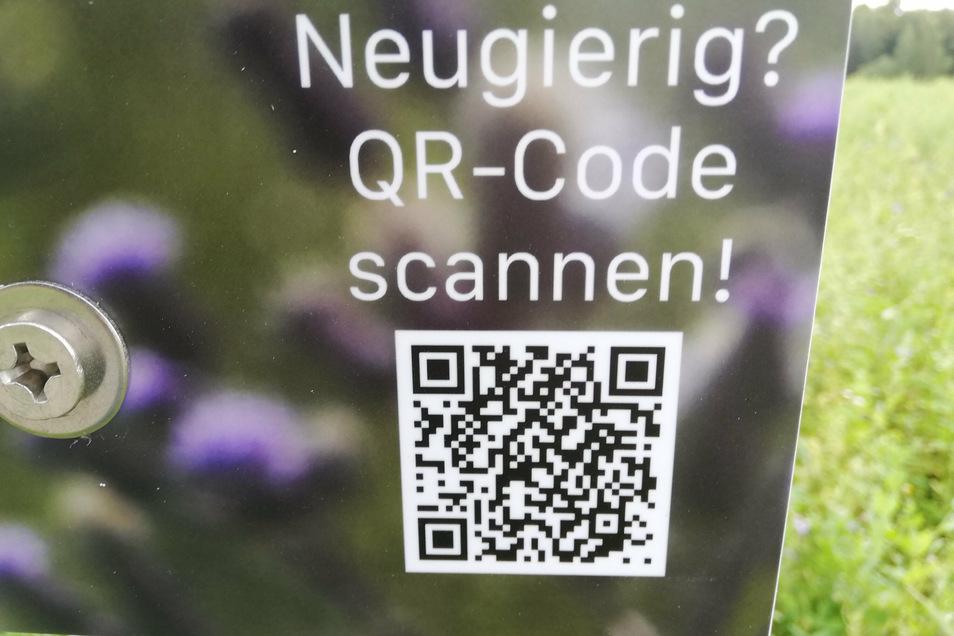 Über einen QR-Code können Interessierte mehr über das Projekt erfahren.