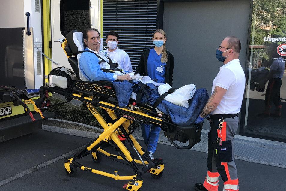 Der französische Covid-19-Patient wird nach Kreischa zur Reha verlegt.