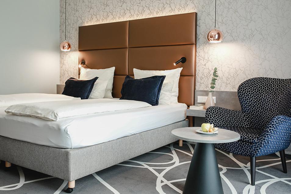 Auch die Zimmer sind modern und komfortabel eingerichtet.
