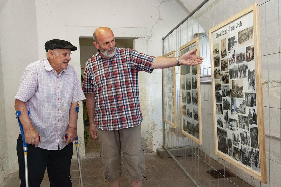 Die Ortschroninsten Werner Hoffmann und Frank Schneider haben eine Ausstellung anlässlich von 800 Jahren Linz zusammengestellt. Sie wird schon im alten Waschhaus gezeigt.