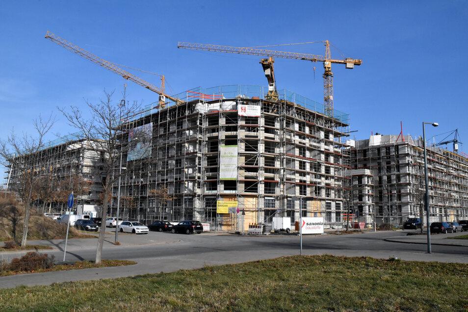 In Mickten entstehen Hunderte Wohnungen.