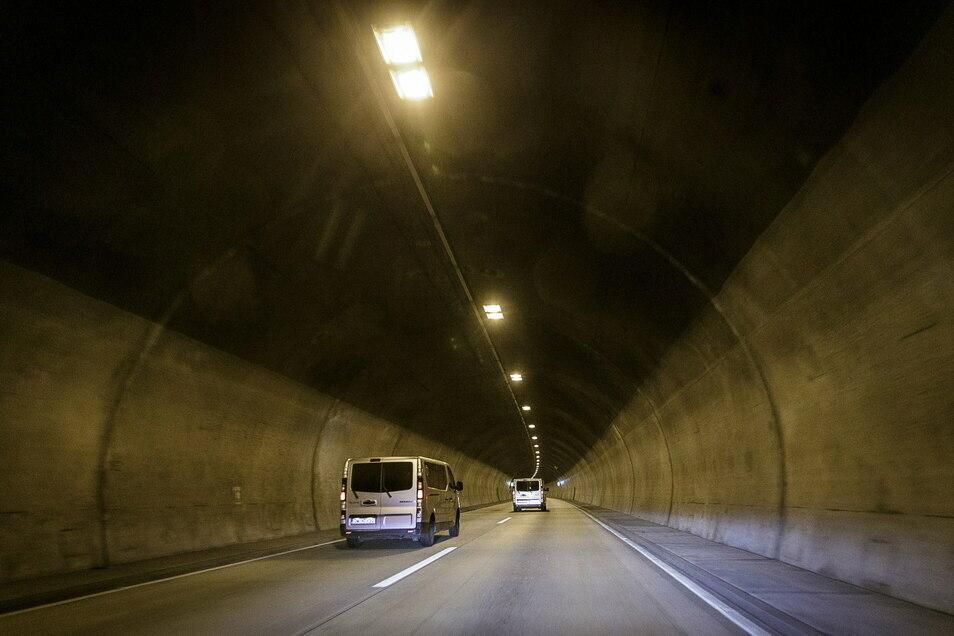 Der Autobahntunnel Königshainer Berge wird am heutigen Mittwoch überprüft.