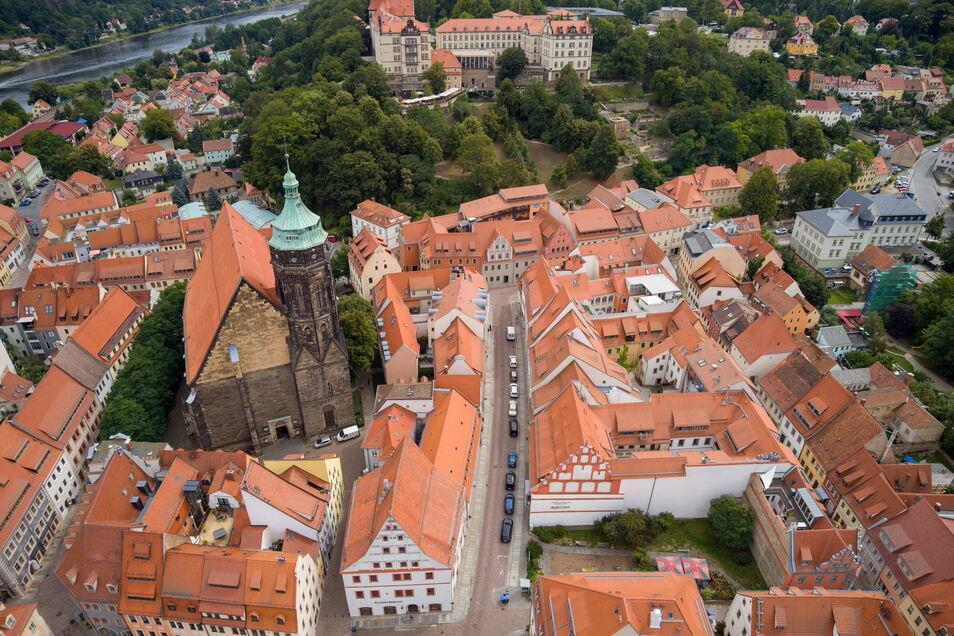 Blick auf die Pirnaer Altstadt: Die Stadt erfreut sich eines anhaltend starken Zuzugs.