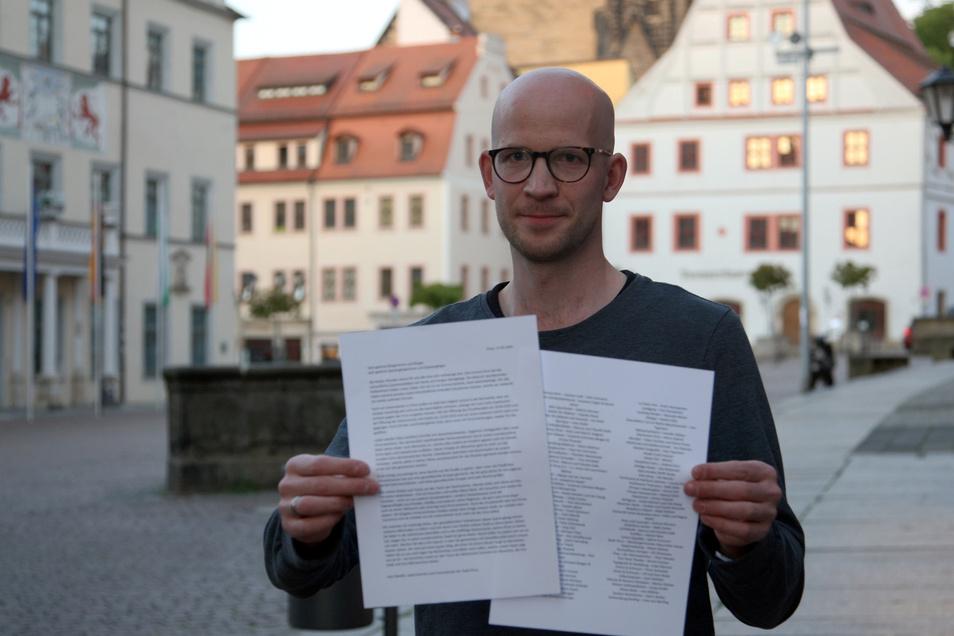 """Canaletto-Wirt Marcus Galle mit dem Offenen Brief: """"Die jüngsten Vorkommnisse schaden massiv dem Image von Pirna."""""""
