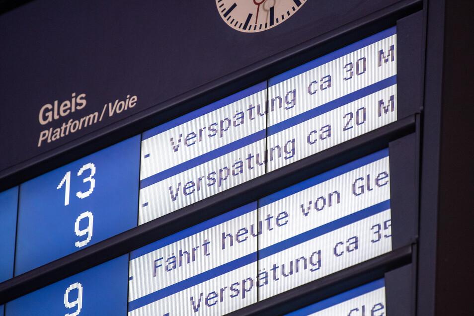 Dank des milden Winters kommen viel weniger Züge verspätet als in anderen Jahren.