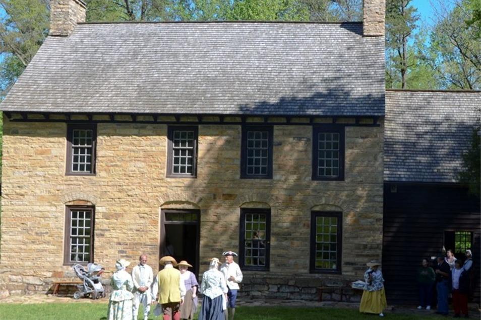 Das Old Stone House beim alljährlichen German Festival. Hier lebte Jane Tauberts Vorfahre Michael Brown, der aus Deutschland nach Amerika ausgewandert war.