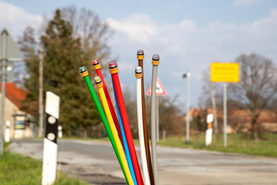 Leerröhren für den Breitbandausbau sind derzeit ein verbreitetes Bild im Landkreis Görlitz.
