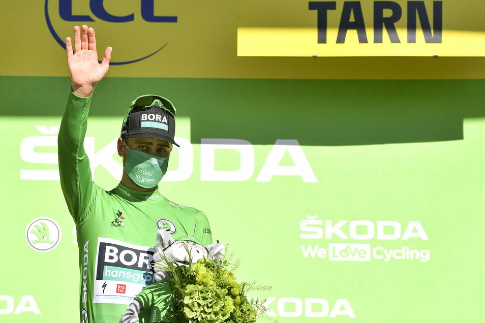 Für den Slowaken Peter Sagan bleibt das Grüne Trikot als Trostpreis.