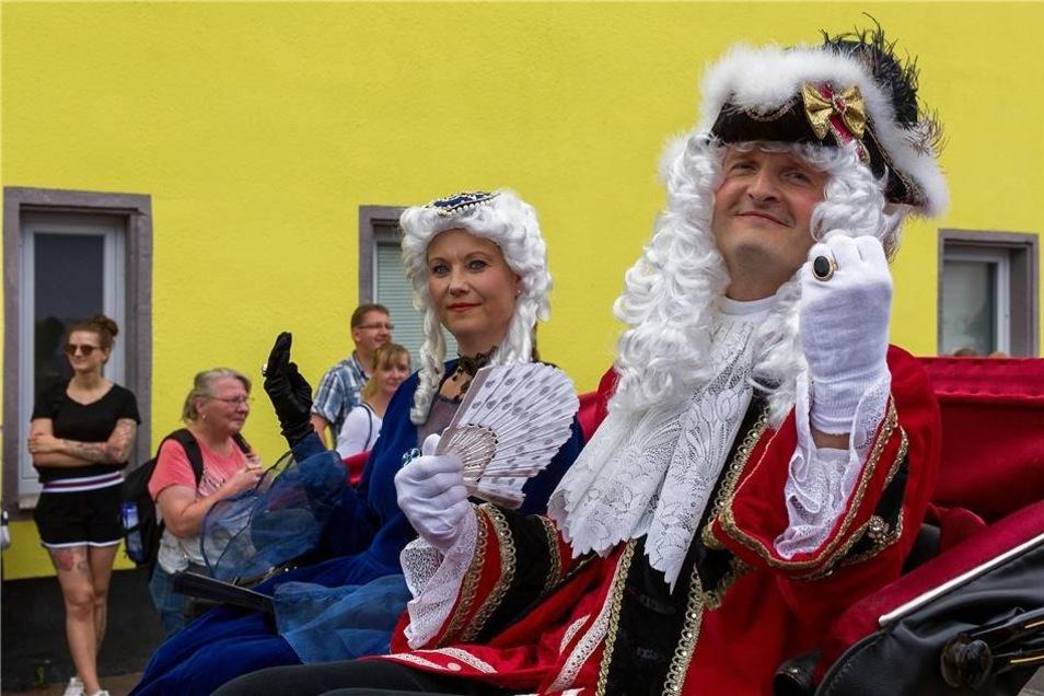 Impressionen vom Festumzug: Kurfürst August mit Gefolge