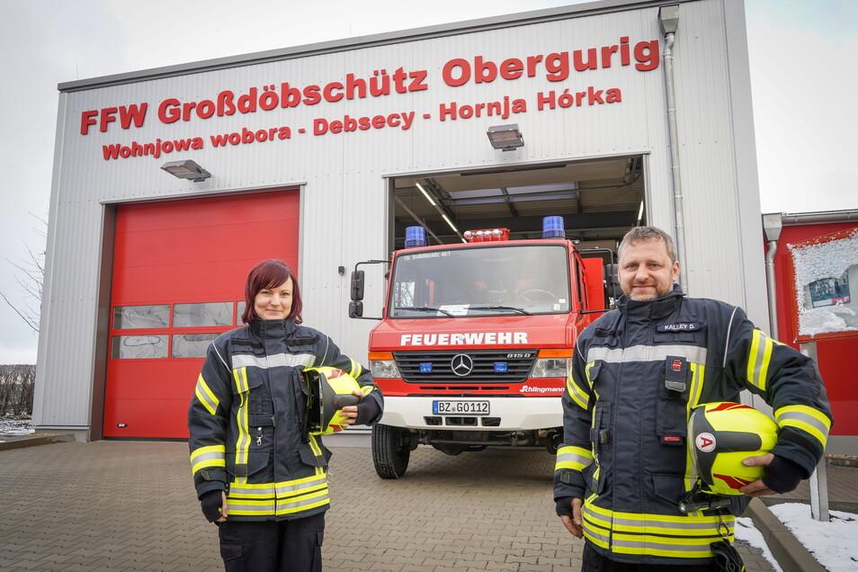Elisa Böhmer ist die erste Feuerwehrfrau in der Wehr von Großdöbschütz-Obergurig. Ortswehrleiter Daniel Kalley hofft, dass viele neue Kameraden ihrem Beispiel folgen. Ein Anreiz dafür könnte das neue Feuerwehrgerätehaus sein.
