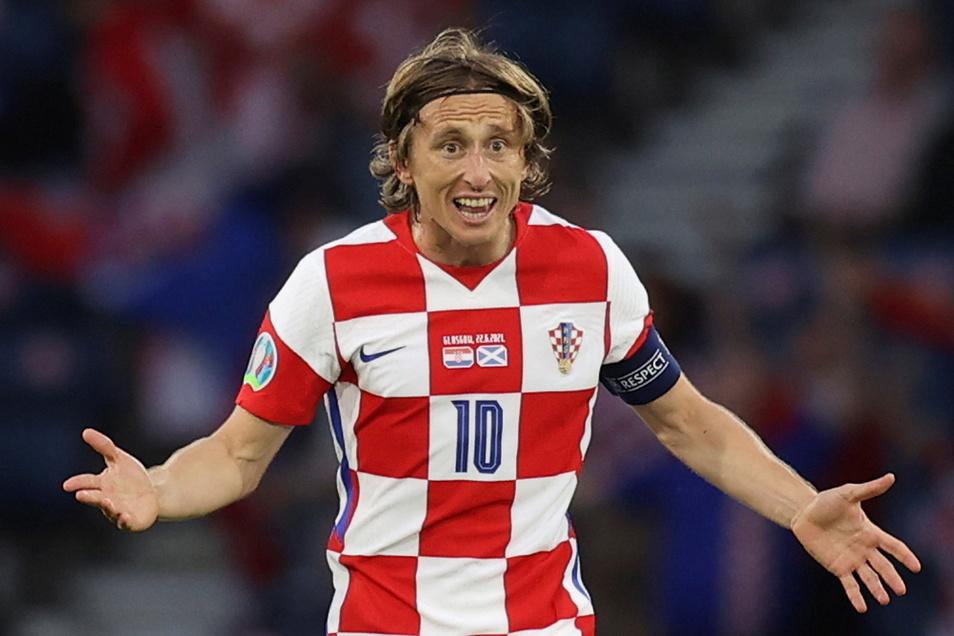 Kroatiens Luka Modric feiert seinen Treffer zum 2:1. Auch das 3:1 bereitete der Superstar von Real Madrid vor.