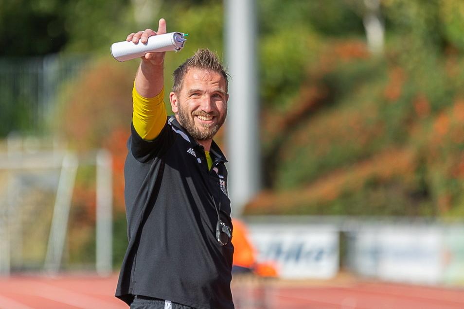 Stefan Richter, der Trainer von Budissa Bautzen, ist vor dem Pokalspiel gegen Lok Leipzig optimistisch.