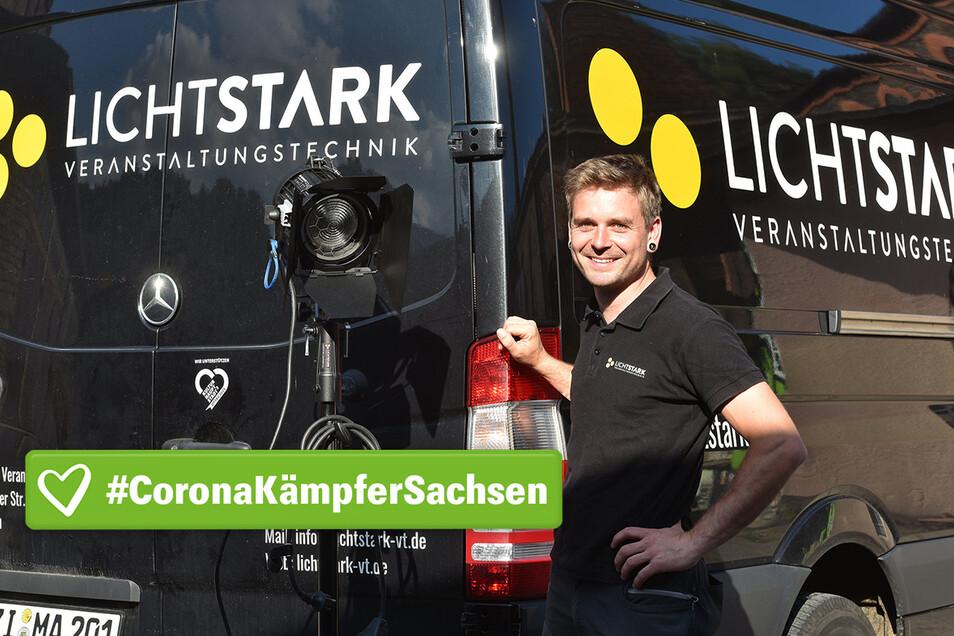 Martin Pech ist seit 2012 mit seiner Firma Lichtstark Veranstaltungstechnik gefragter Experte für die richtige Beleuchtung. Wegen Corona steht seine Branche komplett still.