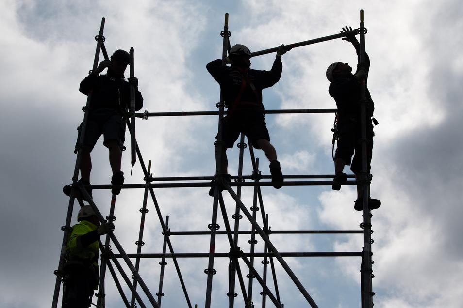 Bauleute sind auch während der Corona-Krise vielerorts anzutreffen..