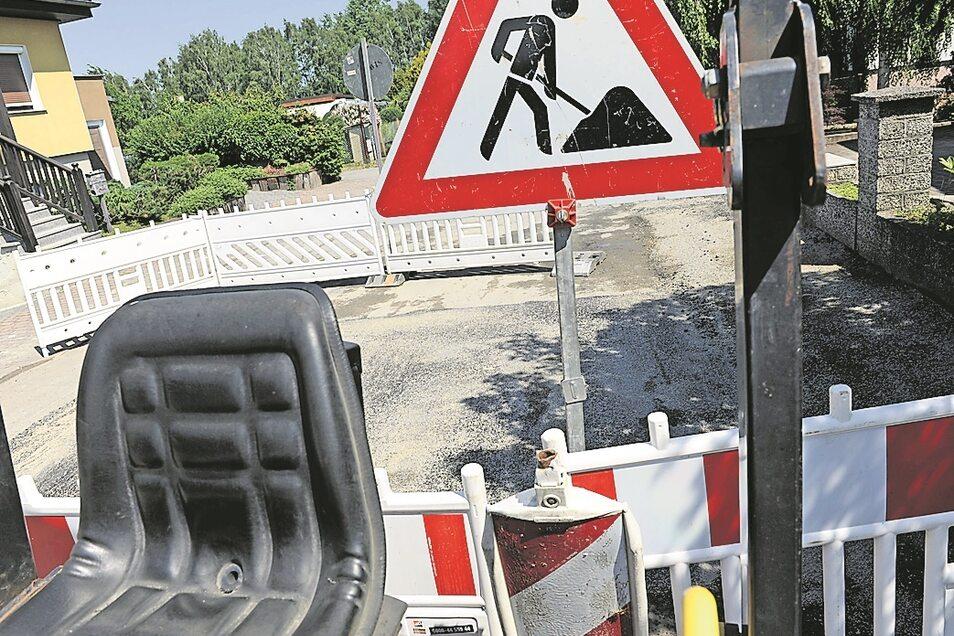 Bald wird wieder im Kromlauer Weg gebaut – diesmal an der Schwarzdecke.