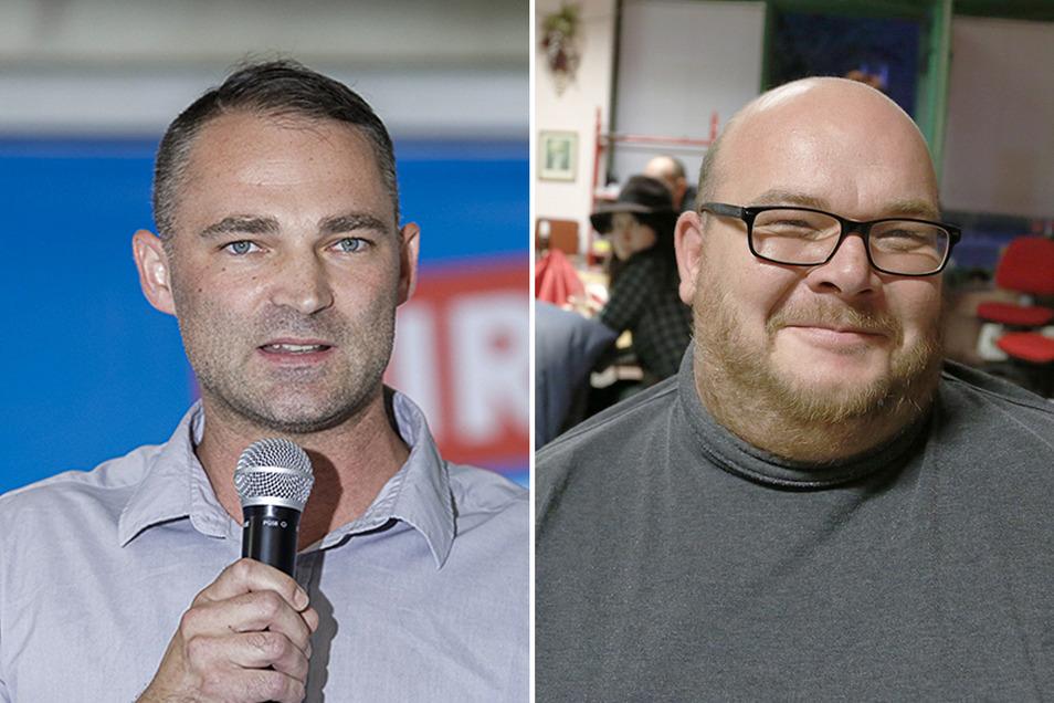 Sebastian Wippel (AfD) und Mirko Schultze (Linke): Gegen die Görlitzer Abgeordneten wird ermittelt.
