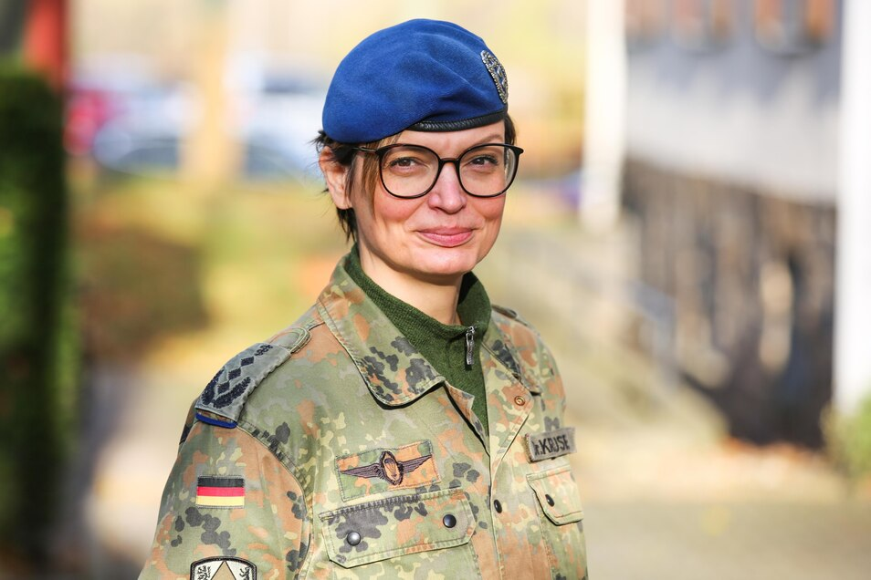 Dr. Stephanie Krause ist Oberstärztin des Sanitätsregimentes 1.