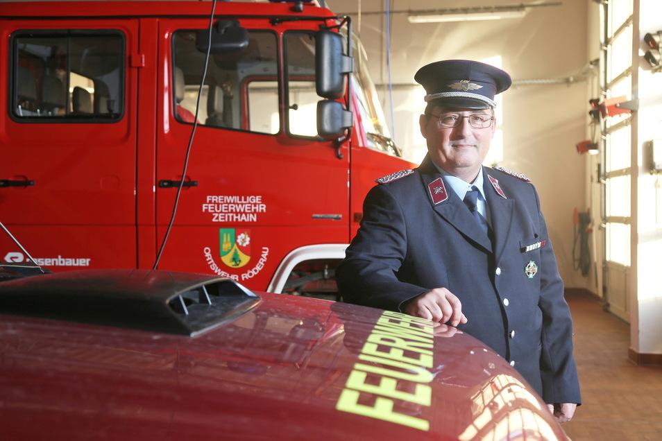 Der Zeithainer Gemeindewehrleiter Matthias Heydel war ebenfalls bei dem Wohnhausbrand im Einsatz. Er fordert eine generelle Rauchmelderpflicht in Sachsen.