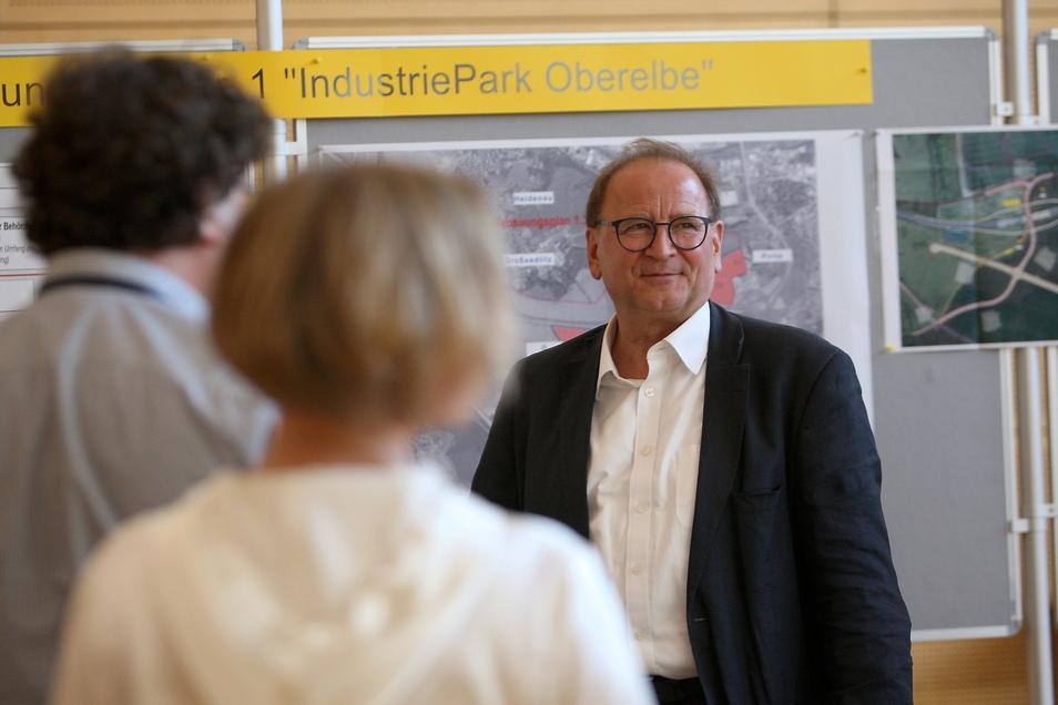 Das Lachen war Jürgen Opitz jetzt bei seinem Kampf für den Industriepark Oberelbe einige Male vergangen.