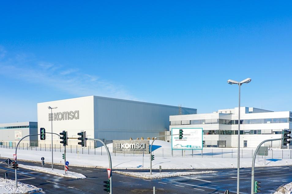 Die Firmenzentrale von Komsa in Hartmannsdorf. 40.000 Pakete verließen im Weihnachtsgeschäft täglich das Lager.
