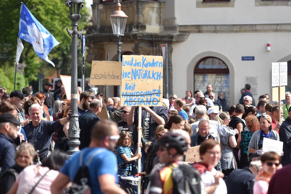 Demonstrationen gegen die Corona-Beschränkungen, wie hier in Zittau, werden die Staatsanwaltschaft Görlitz wohl demnächst beschäftigen.