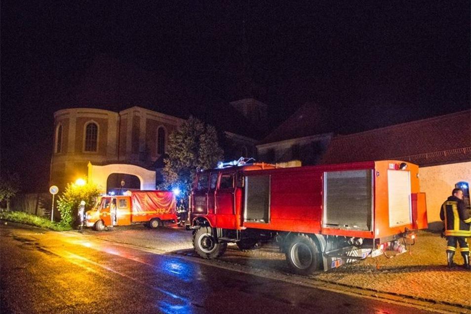 Unwetter im Landkreis: Nach einem Feueralarm rückte die Feuerwehr zur Wallfahrtskirche Rosenthal aus. Zum Glück brannte es hier nicht. Den Fehlalarm hatte offenbar ein Blitzeinschlag ausgelöst.