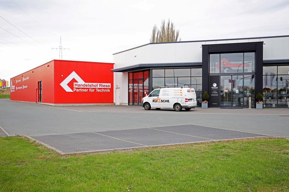 Der Handelshof in Riesa verkauft derzeit nur an Gewerbetreibende.