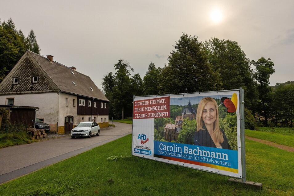 Dorfchemnitz, eine Hochburg der AfD.