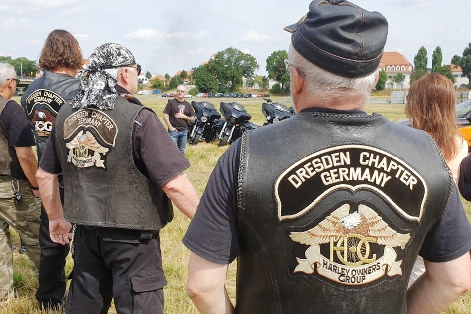 Mathias Lindner erklärte die Harley Days Dresden, bei denen er auch mit seiner eigenen Maschine dabei ist.