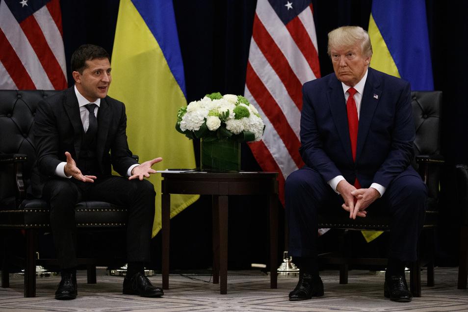 Wolodymyr Selenskyj, Präsident der Ukraine, traf US-Präsident Donald Trump am Rande der UN-Generaldebatte in New York.