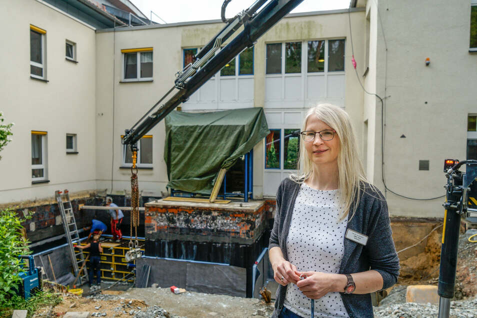 Schon lange wünscht sich Silke Tietz, die Leiterin des ASB-Pflegeheims am Czorneboh in Cunewalde, Veränderungen im Haus. Jetzt entstehen bis Jahresende zwei neue Aufenthaltsräume für die Bewohner.