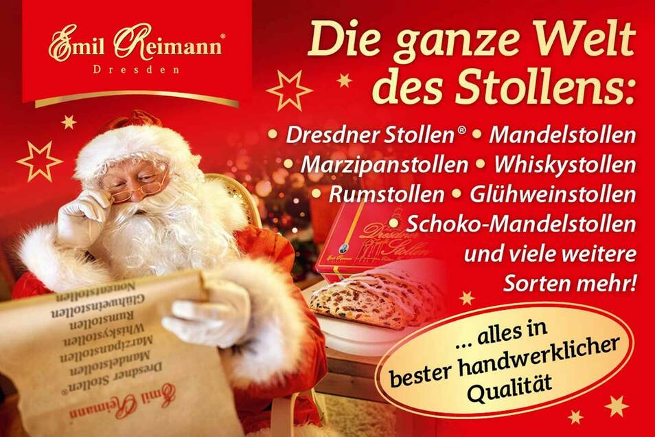 Den heutigen Tagespreis, einen original Dresdner Christstollen, stellt die Bäckerei Emil Reimann.