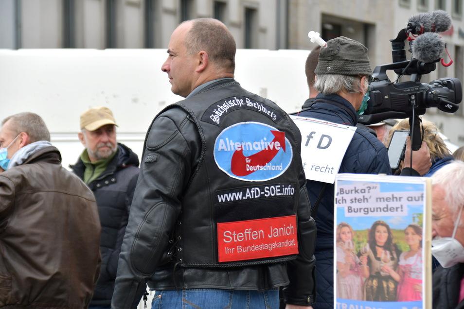 """""""Die AfD steht nicht dafür, dass wir keine Ausländer wollen"""", sagt Steffen Janich."""