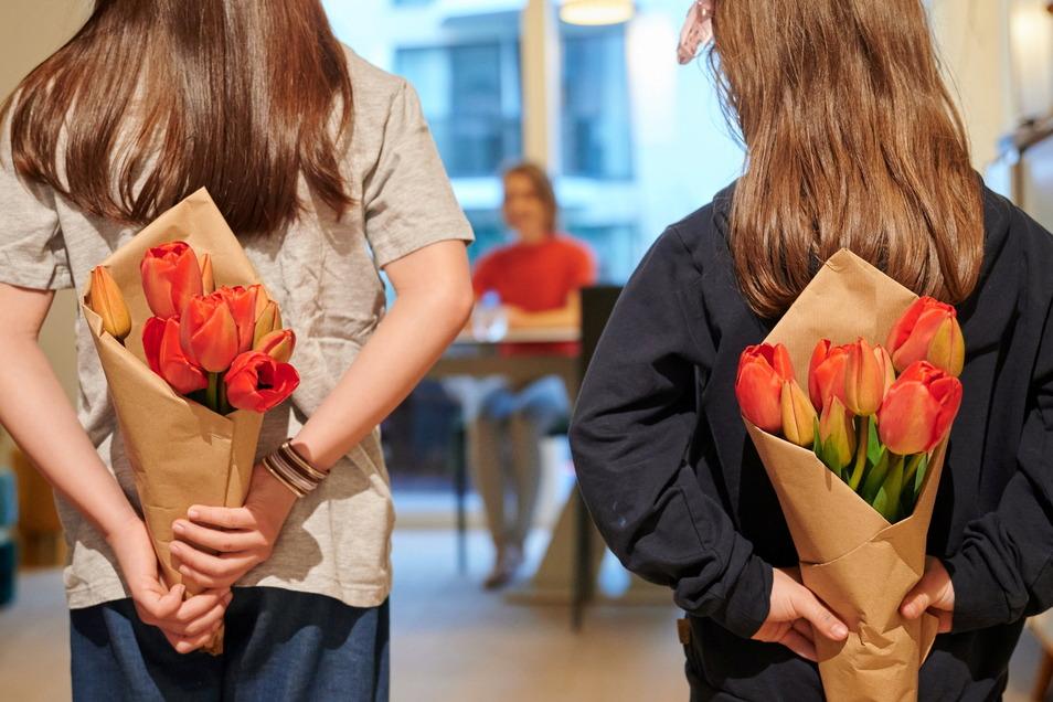 Von Blumen wird Mama nicht glücklich - aber ihne auch nicht.