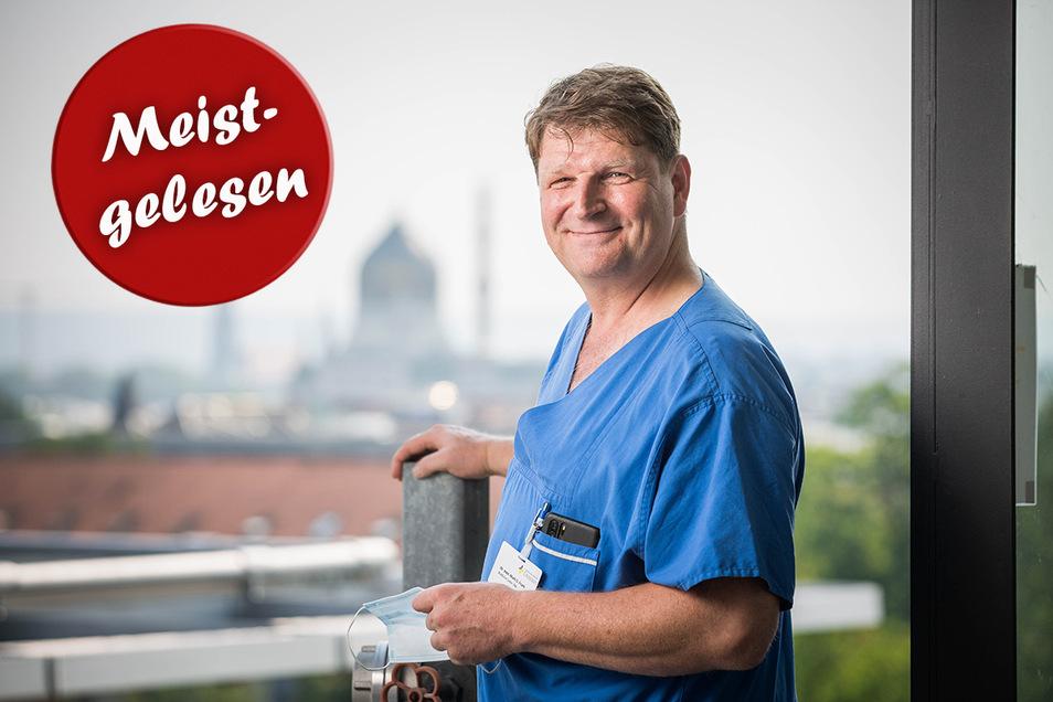 Dr. Mark Frank hofft, dass die zweite Welle abebbt, bevor das Frühjahr beginnt. Entscheidend seien die kommenden Wochen, sagt der Leiter der Notfallmedizin am Städtischen Klinikum Dresden.