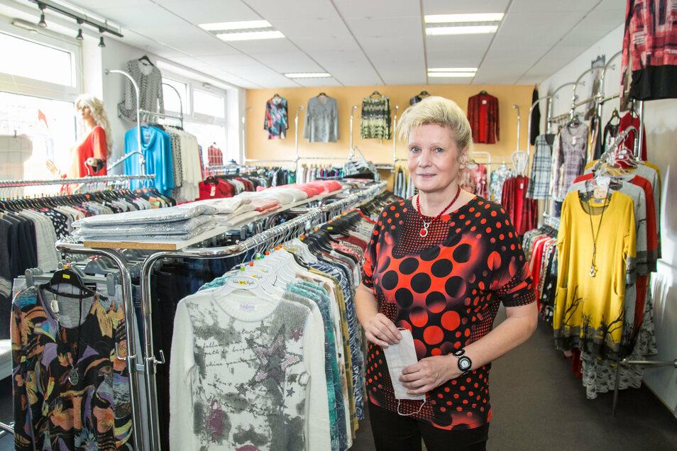 Heidrun Schubert führt seit 30 Jahren ihr Modegeschäft in Niesky.