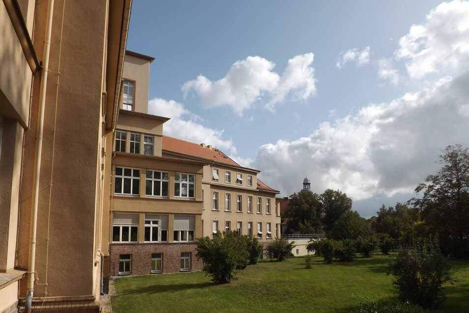 Blick auf das Klinikum Zittau.