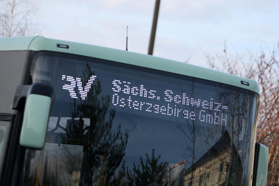 Im oberen Osterzgebirge rollen die Busse derzeit nicht.