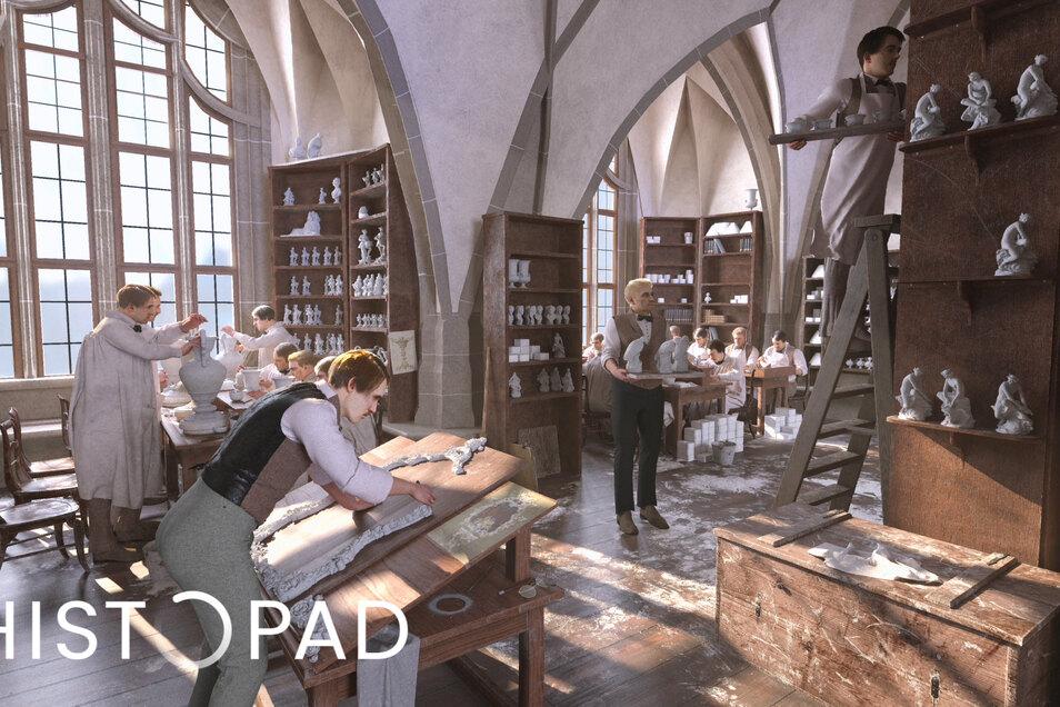"""Das """"HistoPad"""" weckt Vergangenes zum Leben."""