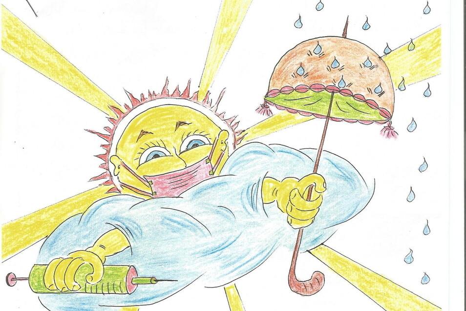 """""""Die Sonne ist mein Markenzeichen"""", sagt der Lommatzscher. Deshalb ist sie auch auf jedem Brief zu finden."""