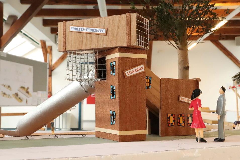 """Siegermodell des Spielplatzes """"Güterbahnhof"""". Schon im Oktober soll aus dem Modell Realität geworden sein."""