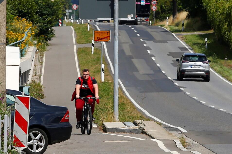 Die Grünen im Bautzener Kreistag wünschen sich im Landkreis Bautzen mehr Radwege wie hier zwischen Gersdorf und Pulsnitz.