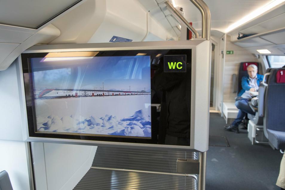 Details aus dem neuen Doppelstock-City-Express, den Bombardier in Görlitz und Villeneuve für die Schweiz produziert