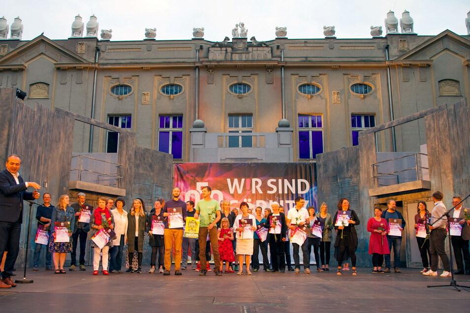 Die Preisträger beim Projektwettbewerb 950 Jahre Görlitz.