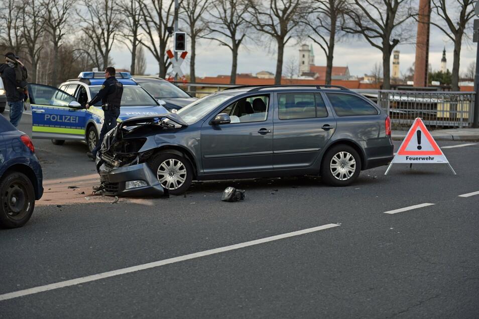 Einer der Unfälle, die 2019 an der Kreuzung Schlieben-/Südstraße passiert sind.