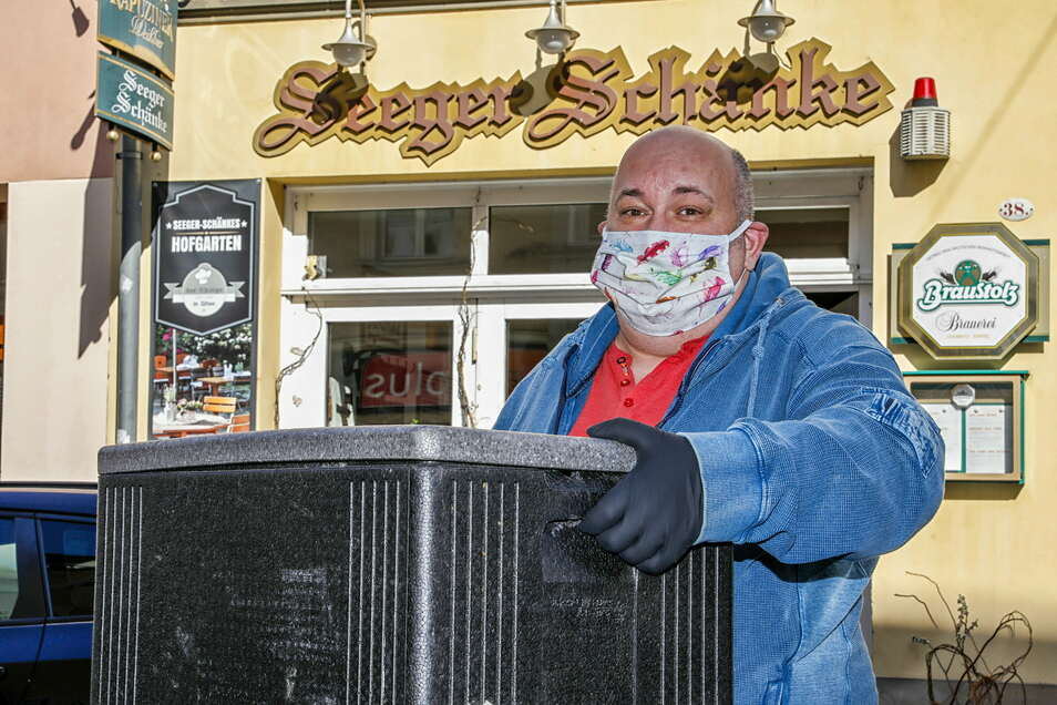 André Matthausch ist froh, dass die Bauarbeiten vor seinem Restaurant beendet sind.