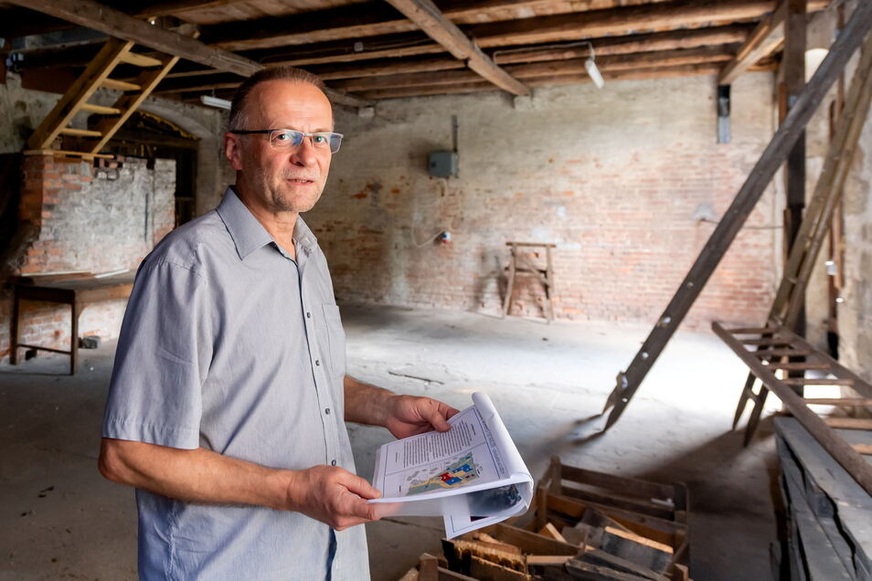 Wolfram Wittig hat den Mittelgasthof in Burkau erworben und will ihn zu einem Wohnhof für Familien machen.