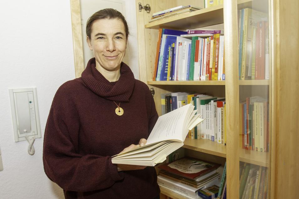 Nadja Ressel (41) ist Diplom-Psychologin und arbeitet seit 2017 in der Diakonie-Familienberatungsstelle in Pirna.